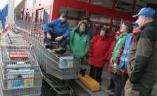 Carrefour-winkels in staking