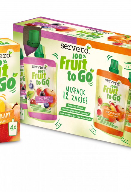 Servero introduceert 100% Fruit to Go
